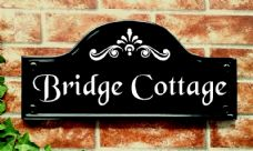 Large Bridge Top Reflective House Sign – 390mm x 185mm; 15.4 inches x 7.3 inches